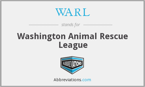 WARL - Washington Animal Rescue League