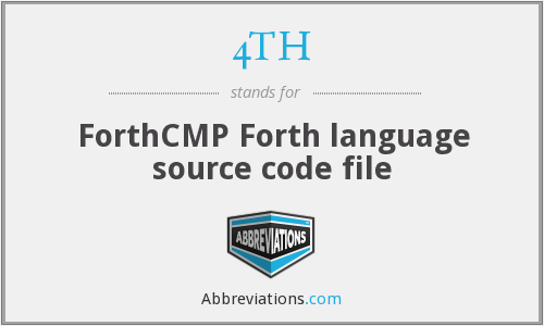 4TH - ForthCMP Forth language source code file