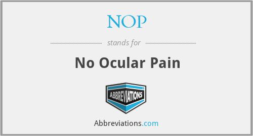 NOP - No Ocular Pain