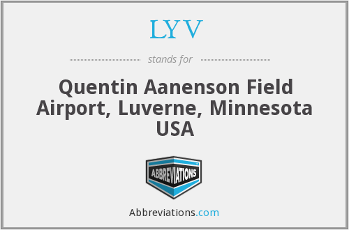 LYV - Quentin Aanenson Field Airport, Luverne, Minnesota USA