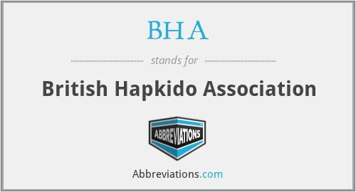 BHA - British Hapkido Association