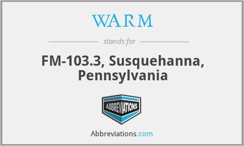 WARM - FM-103.3, Susquehanna, Pennsylvania