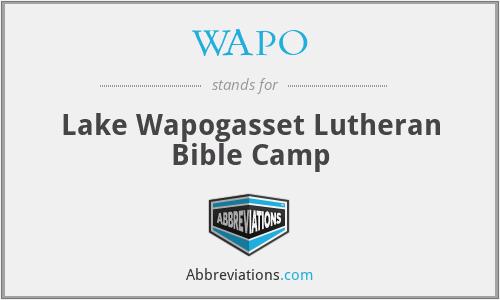 WAPO - Lake Wapogasset Lutheran Bible Camp