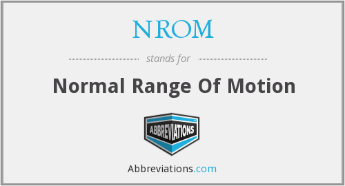 NROM - Normal Range Of Motion
