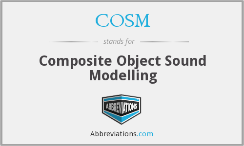 COSM - Composite Object Sound Modelling
