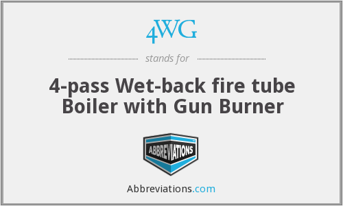 4WG - 4-pass Wet-back fire tube Boiler with Gun Burner
