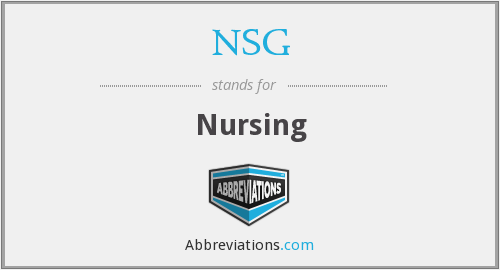 What does NSG stand for?