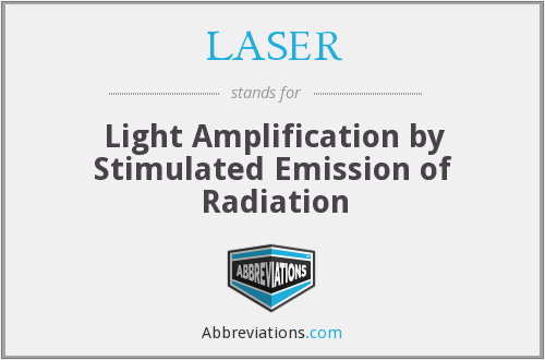 LASER - Light Amplification by Stimulated Emission of Radiation