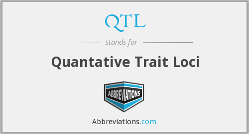 QTL - Quantative Trait Loci