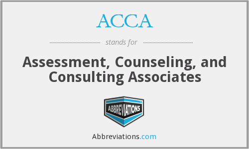 ACCA - Assessment, Counseling, and Consulting Associates