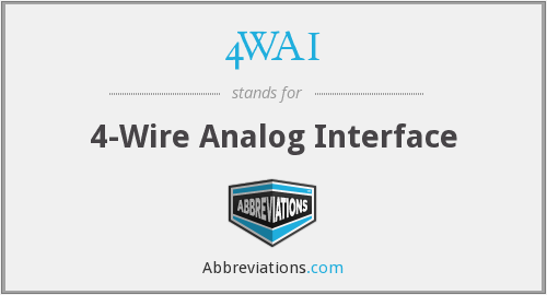 4WAI - 4-Wire Analog Interface