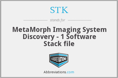 STK - MetaMorph Imaging System Discovery - 1 Software Stack file