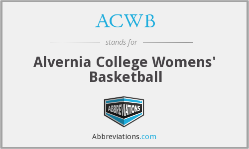 ACWB - Alvernia College Womens' Basketball
