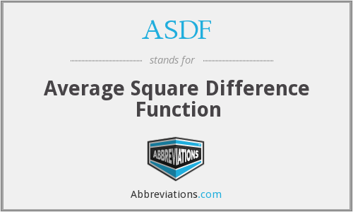ASDF - Average Square Difference Function