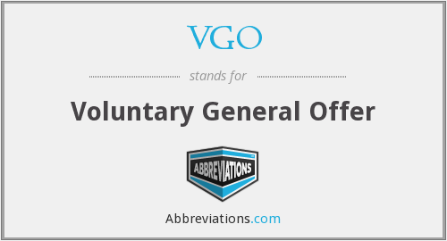 VGO - Voluntary General Offer