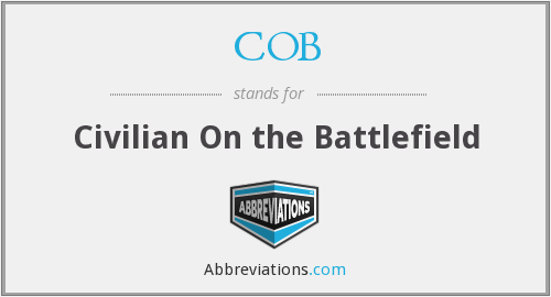 COB - Civilian On the Battlefield