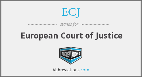 What does ECJ stand for?