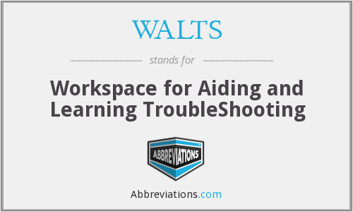 WALTS - Workspace for Aiding and Learning TroubleShooting