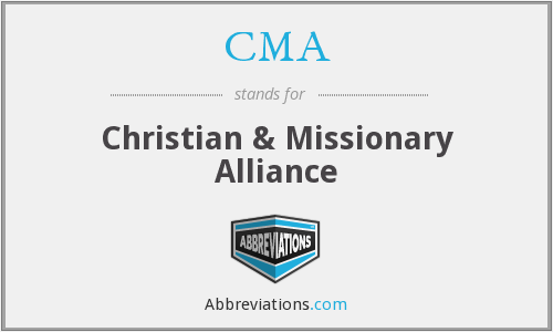 What does CMA stand for?