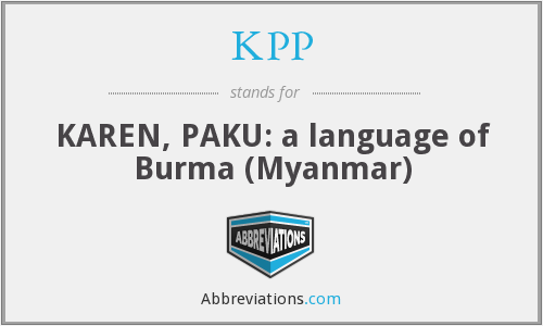 KPP - KAREN, PAKU: a language of Burma (Myanmar)