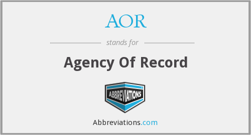 AOR - Agency Of Record