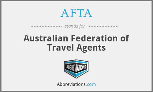 AFTA - Australian Federation of Travel Agents