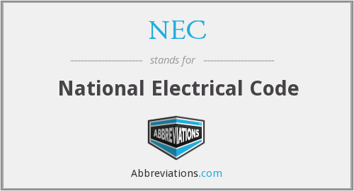 What does N.E.C stand for?