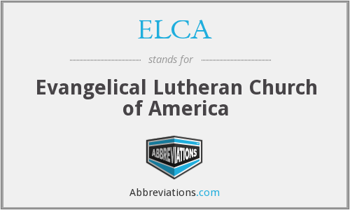 What does ELCA stand for?