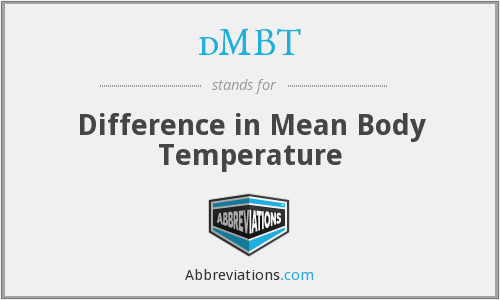 dMBT - Difference in Mean Body Temperature