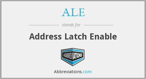 ALE - Address Latch Enable