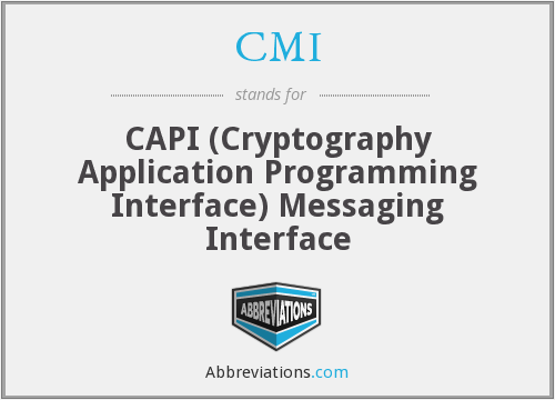 CMI - CAPI (Cryptography Application Programming Interface) Messaging Interface