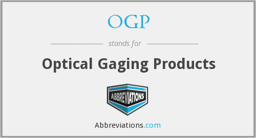 OGP - Optical Gaging Products
