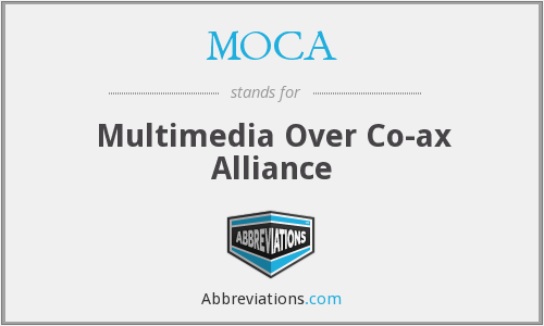 MOCA - Multimedia Over Co-ax Alliance