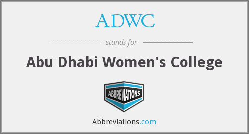 What does ADWC stand for?