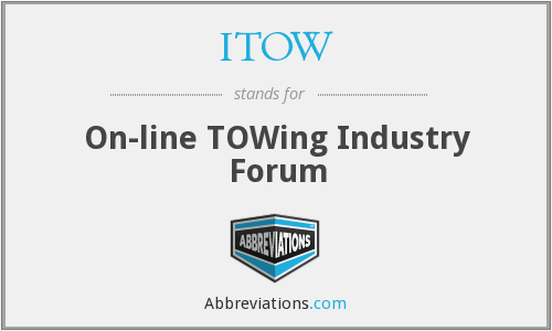ITOW - On-line TOWing Industry Forum