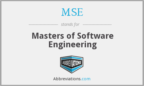 MSE - Masters of Software Engineering
