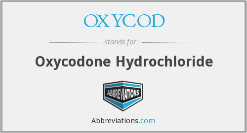 What does OXYCOD stand for?