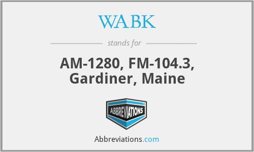 WABK - AM-1280, FM-104.3, Gardiner, Maine