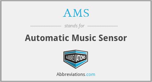 AMS - Automatic Music Sensor