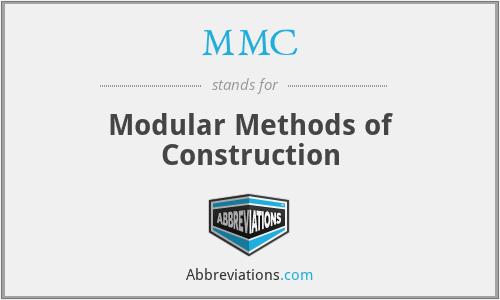 MMC - Modular Methods of Construction