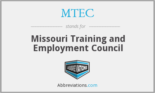 MTEC - Missouri Training and Employment Council