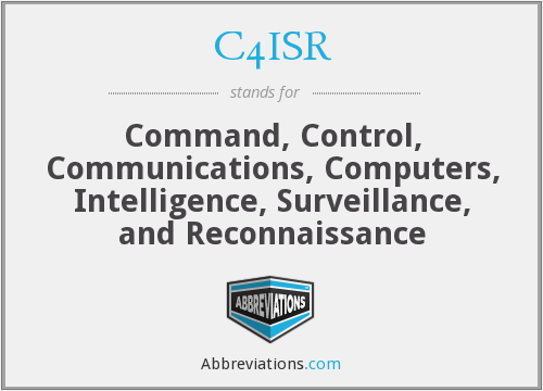 C4ISR - Command, Control, Communications, Computers, Intelligence, Surveillance, and Reconnaissance