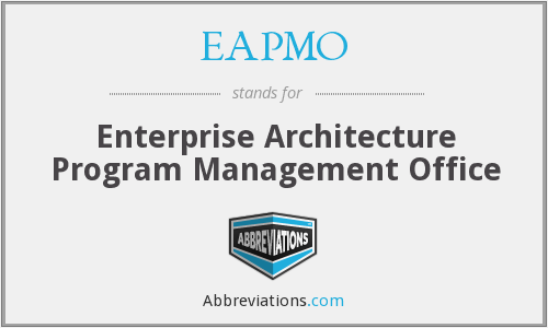 EAPMO - Enterprise Architecture Program Management Office