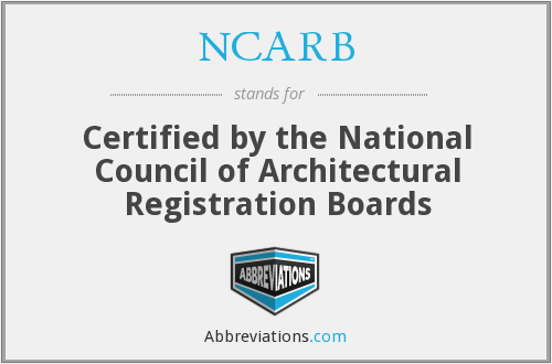What does NCARB stand for?