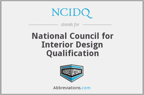 What does NCIDQ stand for?