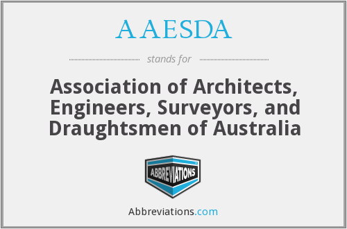AAESDA - Association of Architects, Engineers, Surveyors, and Draughtsmen of Australia