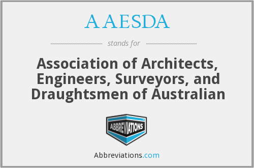 AAESDA - Association of Architects, Engineers, Surveyors, and Draughtsmen of Australian