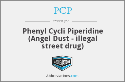 PCP - Phenyl Cycli Piperidine (Angel Dust - illegal street drug)