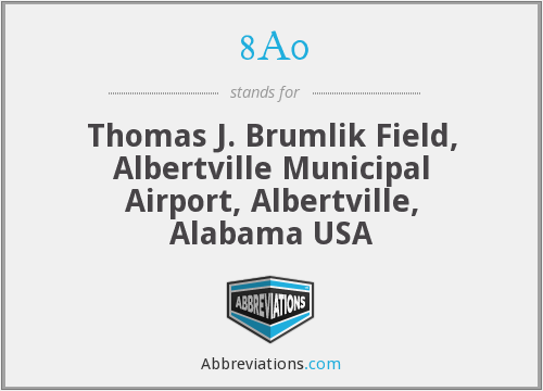 8A0 - Thomas J. Brumlik Field, Albertville Municipal Airport, Albertville, Alabama USA