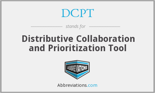 DCPT - Distributive Collaboration and Prioritization Tool